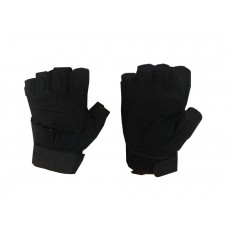 MOTOBELL HALF FINGER TACTICAL GLOVE BK